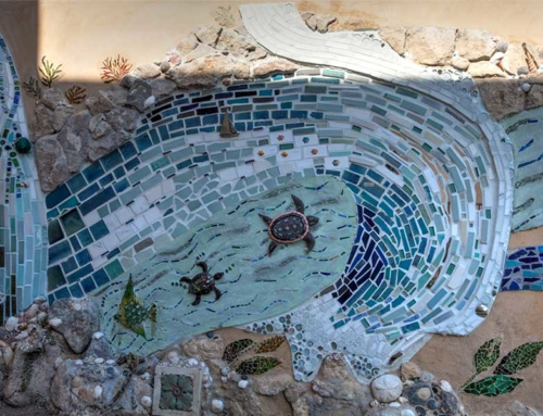 Del Mar Beach House – Outdoor Wall Mosaic