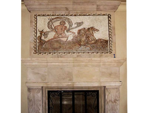 Custom Mosaic Fireplace Artwork