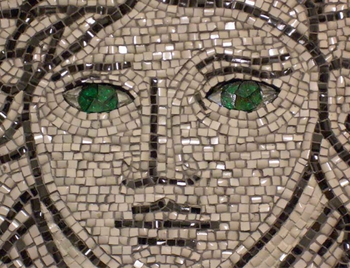 Custom Mosaic Artwork Detail Closeup