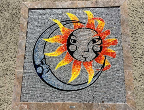 Custom Mosaic Sun Moon Design